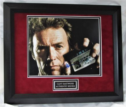 A1073CEDH CLINT EASTWOOD SIGNED DIRTY HARRY SIGNED FRAMED